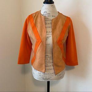 Vintage Knits By Camelon Size 7 Orange Open Blazer